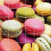Naklejka na Płytki Ceramiczne - Ciastka Macarons