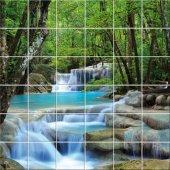 Naklejka na Płytki Ceramiczne - Wodospad