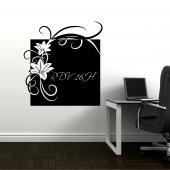 Naklejka tablica - Kwiatek