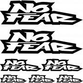 No Fear Aufkleber-Set