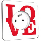 Prise décorée Love