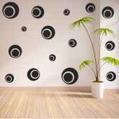 Round Set Wall Stickers
