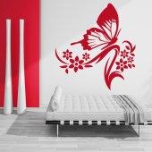 Sticker Floare Fluture