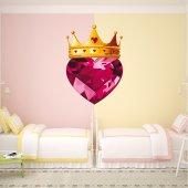 Sticker Pentru Copii Coroana si Inima Diamant