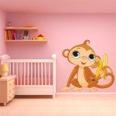 Sticker Pentru Copii Maimuta Banana