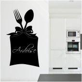Stickers ardoise cuisine couverts