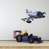 Autocollant Stickers enfant avion