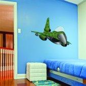 Autocollant Stickers enfant avion militaire