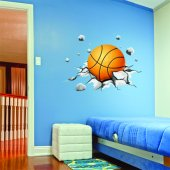 Autocollant Stickers ado ballon de basketball