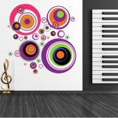 Autocollant Stickers ado cercle multicolore