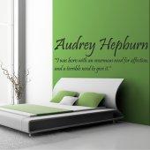 Stickers citation audrey hepburn