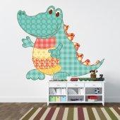 Autocollant Stickers enfant crocodile