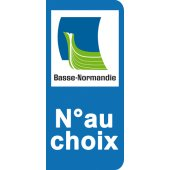Stickers Plaque Basse Normandie