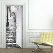 Stickers porte escalier