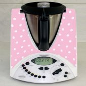 Stickers Thermomix TM31 Rose a pois