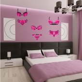Underwear Set Wall Stickers