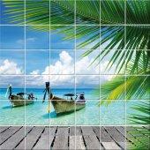 vinilo azulejos barco mar
