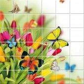 vinilo azulejos flores mariposas