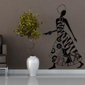 Vinilo decorativo bailarina africana