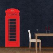 Vinilo decorativo cabina telefónica