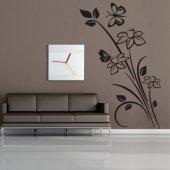 Vinilo decorativo Flor con  Mariposa