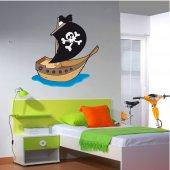 Vinilo infantil Barco pirata