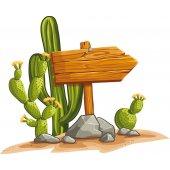 Vinilo infantil cactus
