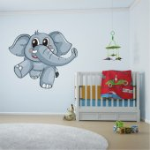 Vinilo infantil elefante bebé