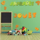 Wandsticker Alphabet Set