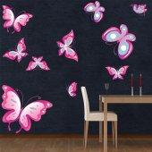 Wandsticker Schmetterling Set