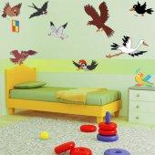 Wandsticker Vogel Set