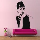 Wandtattoo Audrey Hepburn