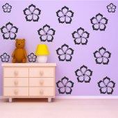 Wandtattoo Blumes Set
