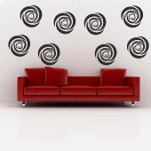 Wandtattoo Hypnose Set