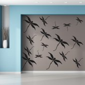 Wandtattoo Libellen Set