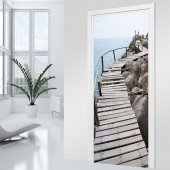 Wooden Pontoon Door Stickers