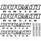 Autocolante Ducati monster
