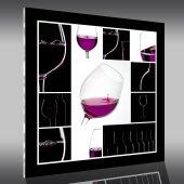 Cuadro metacrilato vino