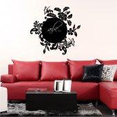 Flowers and Butterflies - Chalkboard / Blackboard Wall Stickers