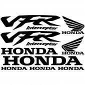 Honda vfr interceptor Aufkleber-Set
