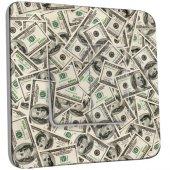 Interrupteur Décoré double va et vient -  Dollars