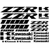 Kawasaki zz-r 1100 Decal Stickers kit