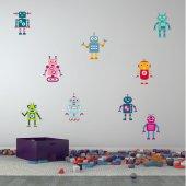 Kit Adesivo Murale bambini 9 robot