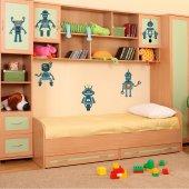 Kit Autocolante decorativo infantil 6 robôs