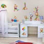 Autocollant Stickers enfant kit 13 clown