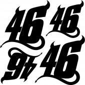 Komplet  naklejek - Moto 46 Diablo