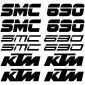 Ktm 690 smc Decal Stickers kit