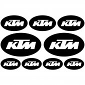 Ktm Ovale Decal Stickers kit