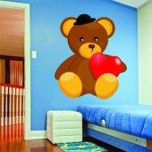 Naklejka ścienna Dla Dzieci - Niedźwiadek w Kapeluszu