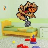 Naklejka ścienna - Koszykarz